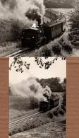 Lot De 2 CPSM Binz Auf Rügen - Train à Vapeur De Rügen - Chemin De Fer - Locomotive - Ruegen