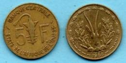 (r65)  WEST AFRICAN STATES 5 Francs 1968  AFRIQUE OUEST  Km#2 - Monnaies