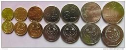 Kyrgyzstan Set Of 7 Coins 2008-2009 (1+10+50 Tyin + 1+3+5+10 Som) UNC - Kyrgyzstan