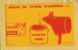 BUVARD :Pot Au Feu MAGGI  Dans La Vraie Tradition Signé D'apres Savignac - Potages & Sauces