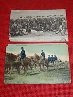 MILITARIA - LEOPOLDSBURG -  2 Cartes :  Armée Belge  (coins  Abîmés) - Leopoldsburg (Camp De Beverloo)