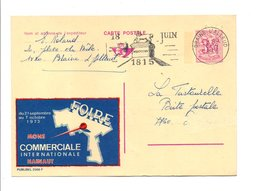 BELGIQUE PUBLIBEL OBL. 2566F FOIRE DE HAINAUT 1973 - Werbepostkarten