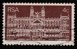 South Africa 1977 The 100th Anniversary Of Transvaal Supreme Court Reddish Brown SW: 514 O Used - Oblitérés
