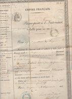 Le Bugue (24 Dordogne)   Passeport Pour L'intérieur EMPIRE FRANCAIS  1856 (PPP8898) - Historical Documents