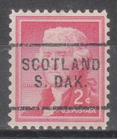 USA Precancel Vorausentwertung Preo, Locals South Dakota, Scotland 703 - Vereinigte Staaten