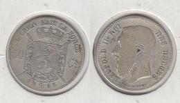 Belgique 50c 1866 Leopold II - 06. 50 Centimes
