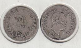 Italie 50 Centesimi 1863 50c Italia - 1861-1878 : Victor Emmanuel II