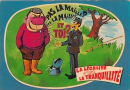 Carte Humoristique -- La Pêche -- LaLégalité C'est La Tranquilité - Fishing