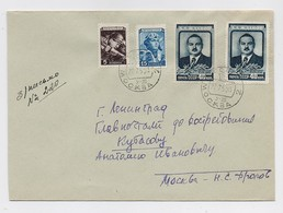 MAIL Post Cover Used USSR RUSSIA Variety Colour Leader ZHDANOV Politic Leningrad Pilot Miner - Covers & Documents