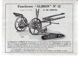 Catalogue ALBION .Usines à LEIGH (Lancashire) Harrison ,Mc Gregor & Cie.48 Pages.Manque La Première De Couverture. - Supplies And Equipment