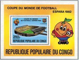 """Congo Bloc YT 24 """" Coupe Monde Football, Espana """" 1980 Neuf** - Congo - Brazzaville"""
