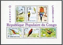 """Congo Bloc YT 25 """" Oiseaux Congolais """" 1980 Neuf** - Congo - Brazzaville"""