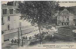 63, Puy-de-Dome, CHATEL-GUYON, Départ Pour Le Rallye-Paper Au Chateau De Chezeron, Scan Recto-verso - Châtel-Guyon