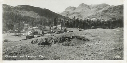 CPA ELTERWATER AND LANGDALE PIKES , VOYAGÉE 1956 - Angleterre