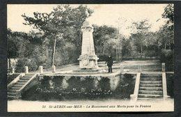 CPA - ST AUBIN SUR MER - Le Monument Aux Morts, Animé - Saint Aubin