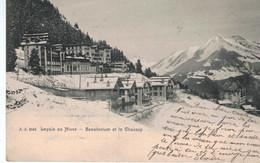 Leysin En Hiver - Sanatorium Et Le Chaussy - 1903 - VD Vaud