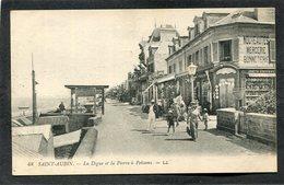 CPA - SAINT AUBIN - La Digue Et La Pierre à Poissons, Animé - Saint Aubin