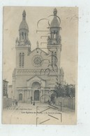 Paris 13 ème Arr (75) :L'Église Sainte-Anne De La Butte-aux-Cailles Rue De Tolbiac En 1905 (animé) PF - Arrondissement: 13