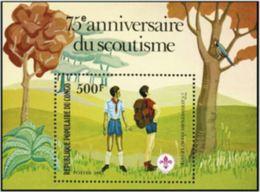 "Congo Bloc YT 29 "" 75e Anniversaire Du Scoutisme "" 1982 Neuf** - Congo - Brazzaville"