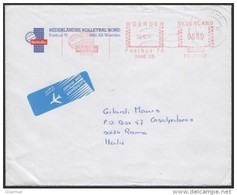 PALLAVOLO - THE NETHERLANDS WOERDEN 1991 - METER / EMA NATIONAL VOLLEYBALL FEDERATION - MAILED ENVELOPE - Pallavolo