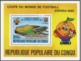 "Congo Bloc YT 32 "" Résultats Football Espana "" 1982 Neuf** - Congo - Brazzaville"