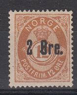 NOORWEGEN - Michel - 1888 - Nr 48 - (*) - Norvège
