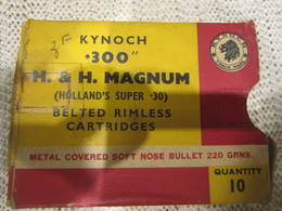 Boite Cartouche De Grande Chasse 300 H&H Magnum Vide - Armi Da Collezione