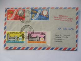 BERMUDA  - 1968 New Constitution FDC With Mangrove Bay Postmark - Bermuda