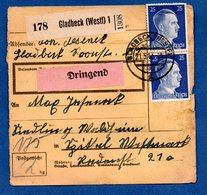 Colis Postal  --  Départ Gladbeck  -- 21/5/1943 - Covers & Documents