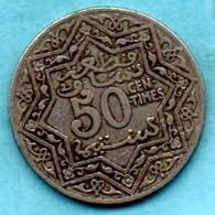 (r65) MAROC / MOROCCO  50 CENTS ND  ( 1921 ) Paris  Km#35;1 - Morocco