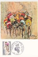 Carte-Maximum FRANCE N° Yvert 1724 (CHAMP DU MONDE CYCLISTES) Obl Sp Ill 1er Jour Gap (Tableau De R.Dago) RRR - Cartoline Maximum