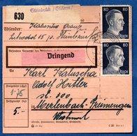 Colis Postal  --  Départ Steinbrück  --3/5/1943 - Storia Postale
