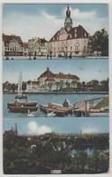 Borna - Realhymnasium, Markt Mit Rathaus, Belebt - Borna