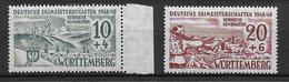 WÜRTTEMBERG - YVERT  N°42/43 ** - SANS CHARNIERE - COTE = 17 EURO - Zone Française
