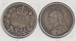 Grande Bretagne 6 Pence 1888 UK - 1816-1901 : 19th C. Minting