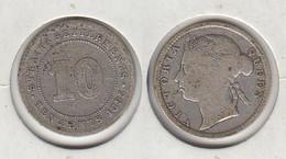 Straits Settlements Ten Cents 1895  10c - Colonies