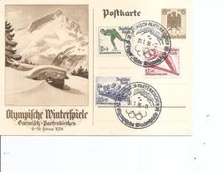 JO D'hiver De Garmisch-Partenkirchen -1936 ( Carte Entier Commémorative D'Allemagne à Voir) - Winter 1936: Garmisch-Partenkirchen
