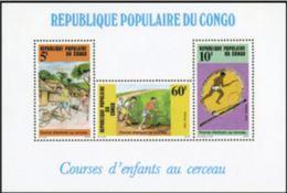 """Congo Bloc YT 40 """" Courses D'enfants Au Cerceau """" 1986 Neuf** - Congo - Brazzaville"""