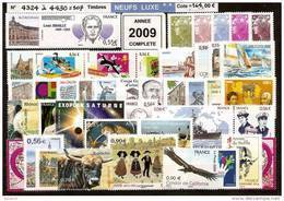 FRANCE - Année Complète 2009 - NEUF LUXE ** 107 Timbres - SUPERBE - France