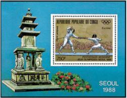 "Congo Bloc YT 43 "" JO Séoul "" 1988 Neuf** - Congo - Brazzaville"