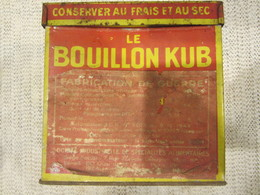 RARE BOITE BOUILLON KUB ETIQUETTE GUERRE WW2 SOLDAT LIGNE MAGINOT - 1939-45