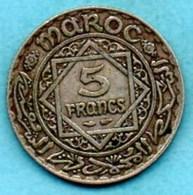 (r65)  MAROC / MOROCCO  5 Francs  1352  Silver - Morocco