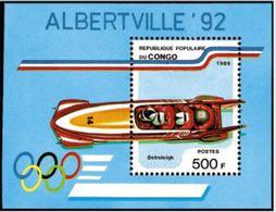 "Congo Bloc YT 45 "" JO Albertville "" 1989 Neuf** - Congo - Brazzaville"