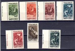 1930  Sarre, œuvres Populaires, Volkshilfe   YV 132 / 138 **,  Cote 230 €,  Ste Odile, Madone - Ongebruikt