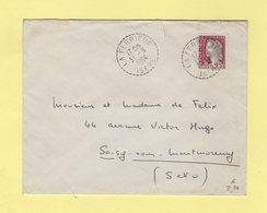 La Ferriere - Isere - 1964 - Marianne De Decaris - Manual Postmarks