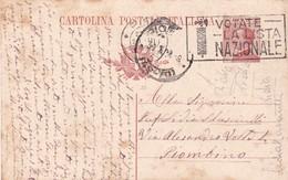 ITALIA CARTOLINA POSTALE VIAGGIATA ANNO 1924 - Interi Postali