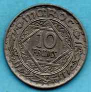 (r65) MAROC / MOROCCO 10 FRANCS 1366  French Protectorate - Morocco