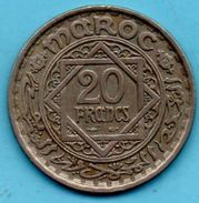 (r65)  MAROC / MOROCCO 20 FRANCS 1366  French Protectorate - Morocco