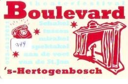 NEDERLAND CHIP TELEFOONKAART CRE 344 * Boulevard S Hertogenbosch *  Telecarte A PUCE PAYS-BAS * ONGEBRUIKT MINT - Netherlands