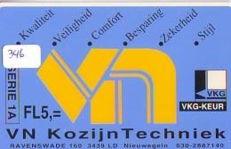 NEDERLAND CHIP TELEFOONKAART CRE 346 * VN KOZIJN *  Telecarte A PUCE PAYS-BAS * ONGEBRUIKT MINT - Netherlands